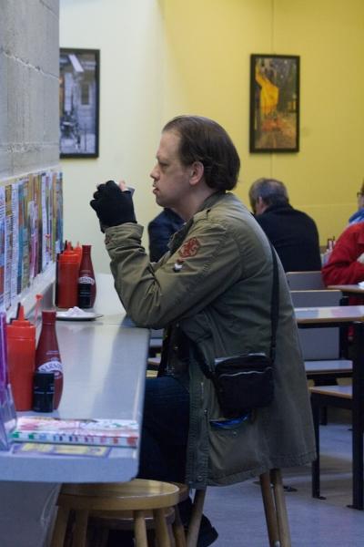 Man at Breakfast Bar
